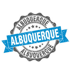 Albuquerque round ribbon seal vector
