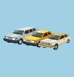 auto garage car set design vector image