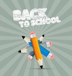 Back to school retro with pencils vector