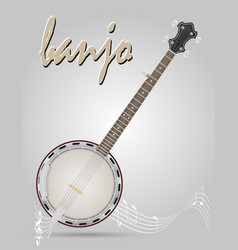 Banjo musical instruments stock vector