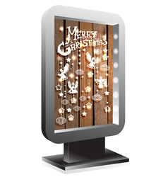 billboard Christmas wood vector image vector image