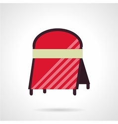Cafe advert board icon flat style vector
