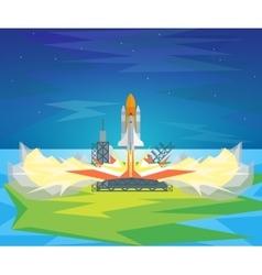 Cartoon start space shuttle vector
