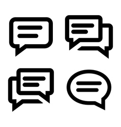 Chat icon set vector