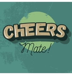 Cheers comic inscription image vector