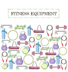 concept of sport equipment background vector image