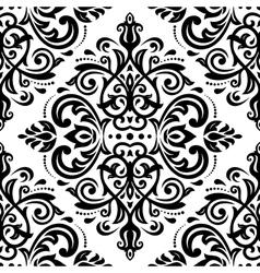 Damask seamless pattern orient background vector