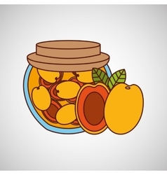 fruit jam design vector image vector image