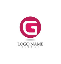 g letters logo and symbols template icons app vector image vector image