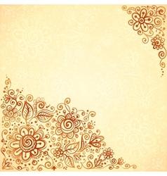 Henna colors flourish artistic background vector