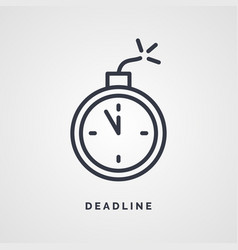 Linear icon for business on a deadline vector