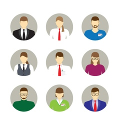 Male and female faces avatars icons vector image vector image