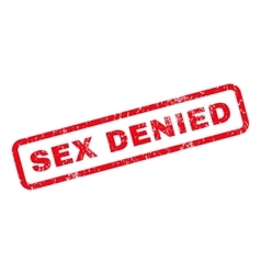 Sex Denied Rubber Stamp vector image vector image
