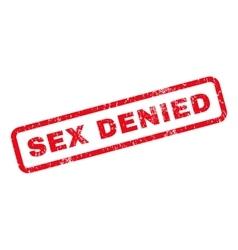 Sex Denied Rubber Stamp vector image