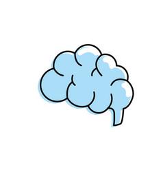 Side brain human anatomy organ of inteligence vector
