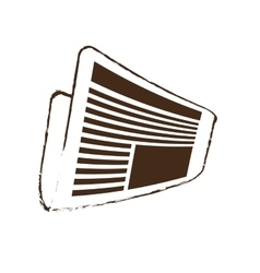 Sketch draw newspaper letter news daily vector