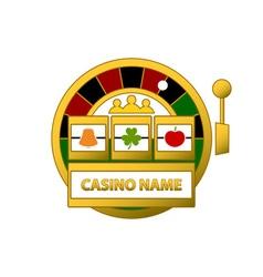 Slot-Machine-Logo-380x400 vector image vector image