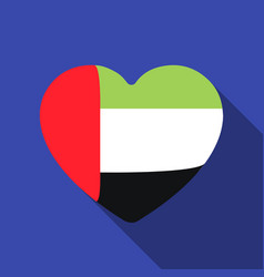 United arab emirates heart icon in flat style vector