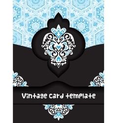 vintage poster card template design vector image vector image