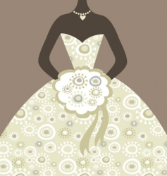 wedding bride vector image vector image