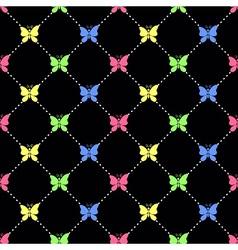 Candy butterflies pattern vector image