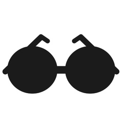 Round frame sunglasses icon vector
