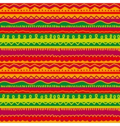 Childish stryped background with zigzag and lines vector