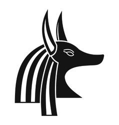 Ancient egyptian god anubis icon simple style vector