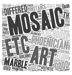 Marble mosaic art text background wordcloud vector
