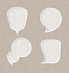 Bubble for speech set Wooden style vector image