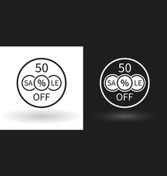 Creative sale icon with the percentage discount vector