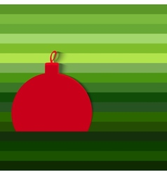 Decorative christmas ball vector