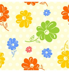 colorful flowers seamless background vector image