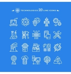 Technologies white icons vector