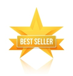 Best seller gold star background five vector
