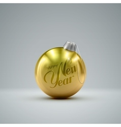 Christmas golden ball vector