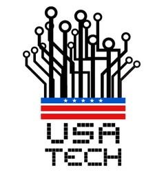 Usa tech symbol vector