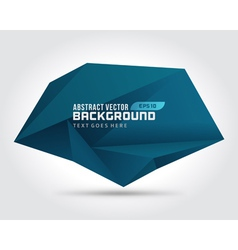 Abstract geometric 3d dark shape background vector