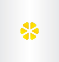 abstract yellow business icon symbol design vector image vector image
