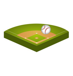 baseball diamond field icon vector image