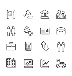 business and finance line Icons set vector image vector image