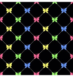 Candy butterflies pattern vector