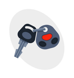car key with remote control automobile security vector image