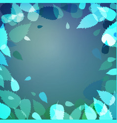 cool background with blue and green leaves vector image vector image