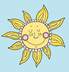 Doodle sun hand drawn vector