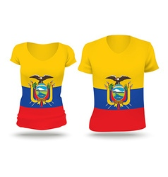 Flag shirt design of Ecuador vector image vector image