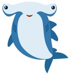 Hammerhead shark with big smile vector