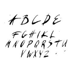 Hand written alphabet vector