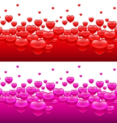 Heart backgrounds vector image vector image