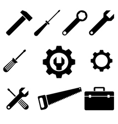 icons tools vector image vector image